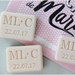 Mini savon 3 initiales