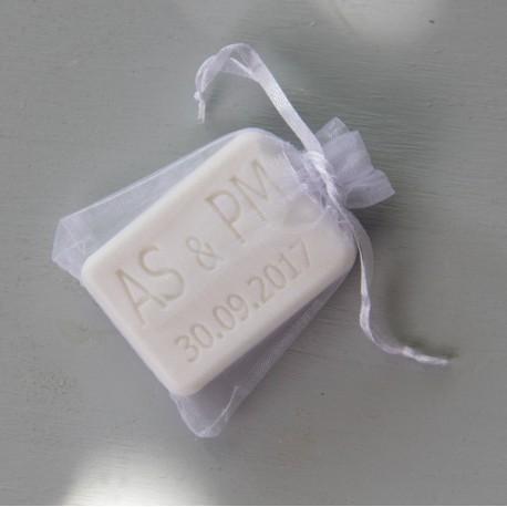 Pochette organza blanc petit modèle