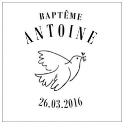 BAPTEME PHOTOPHORE COLOMBE