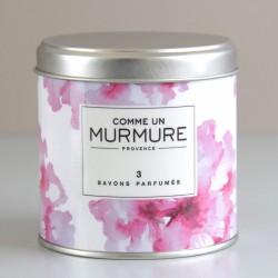 Boite savon prénom floral