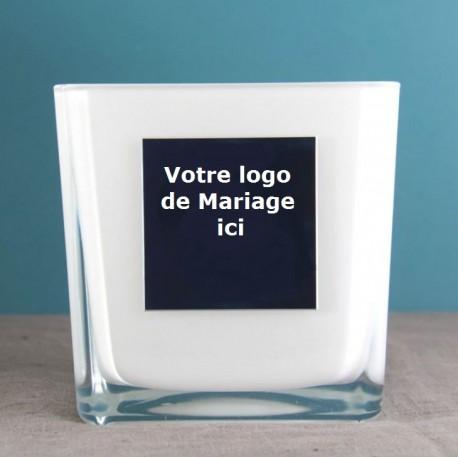 Mariage Vase personalisé logo