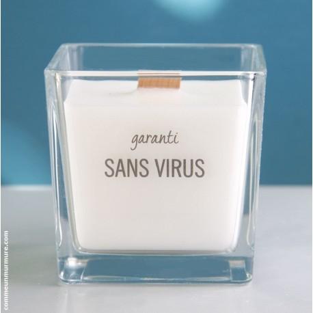"""Bougie """"Garanti Sans Virus"""""""